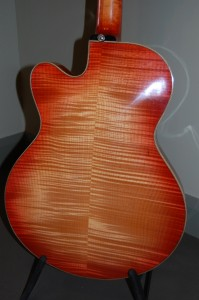 Back of Corey Christiansen Model 1 (Neck Joining Body at the 16th Fret)